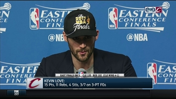 Kevin Love discusses LeBron's accomplishments, Cavs' upcoming matchup with Warriors