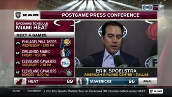 Erik Spoelstra: We lacked our usual poise late