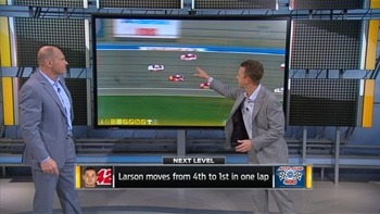 Breaking Down the Final Restarts at Fontana | NASCAR RACE HUB