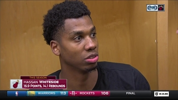Hassan Whiteside describes scramble around his game-winning shot
