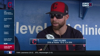 Corey Kluber is eager for what May will bring to Indians rotation