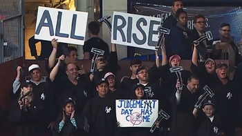 Yankees debut 'The Judge's Chambers' fan section for Aaron Judge