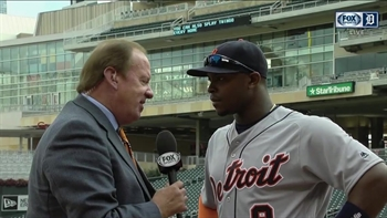 Justin Upton's tie-breaking homer helps Tigers beat Twins
