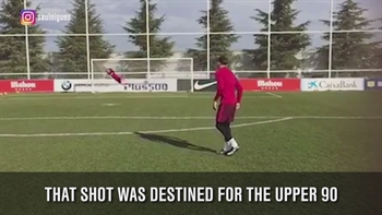 It turns out Antoine Griezmann is pretty good at saving goals