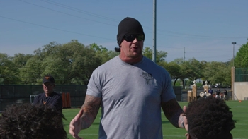 The Undertaker visits Texas Longhorns spring practice