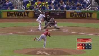 WATCH: Justin Bour hits a 3 run HR to right field