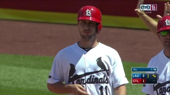 WATCH: DeJong singles as his parents watch at Busch Stadium