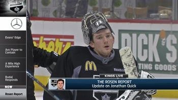 Kings Live: Jon Rosen gives update on return of goalie Jonathan Quick