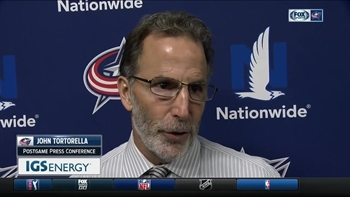 Coach Tortorella wants the Blue Jackets to get more pucks on goal