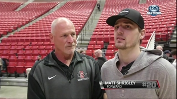 A special bond between Aztec Matt Shrigley and his father, Rich