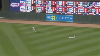 "WATCH: Steven Souza Jr.'s ""dive"" comes up just a little short"