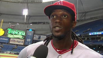 Maybin homers for second straight game in Angels win