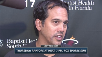 Heat's Erik Spoelstra talks team injuries and progress
