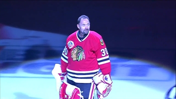Ed Belfour honored with 'One Last Skate' in Chicago