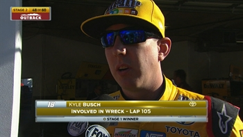 Kyle Busch's Day Ends Early | 2017 DAYTONA 500 | NASCAR ON FOX