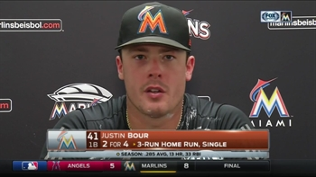Justin Bour says it's a game of ups and downs