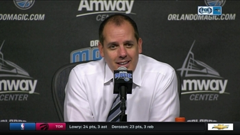 Magic coach Frank Vogel credits fans for creating a buzz on Friday night