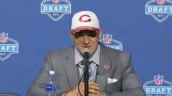 Mitchell Trubisky speaks after becoming No. 2 overall pick for Chicago Bears