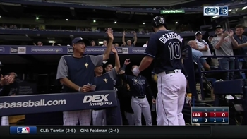 HIGHLIGHT: Corey Dickerson celebrates his birthday with solo home run