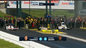 Antron Brown Wins Top Fuel Final at Topeka | 2017 NHRA DRAG RACING