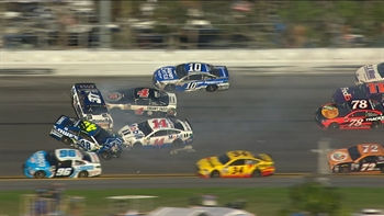 Jimmie Johnson Sets Off Huge Wreck | 2017 DAYTONA 500 | FOX NASCAR