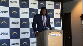 New Charger Mike Williams on how his life's changed already