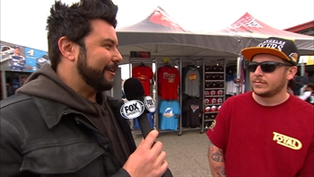 Daryl Motte Talks to Fans at Fontana I NASCAR RACEDAY