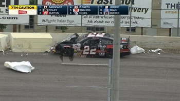 Shane Lee Destroys the Outside Retaining Wall at Toledo I 2017 ARCA RACING SERIES