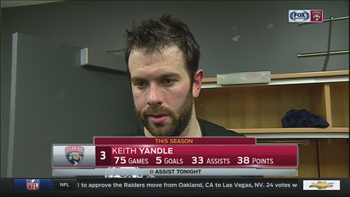 Keith Yandle calls it tough to lose games at this stage of the season