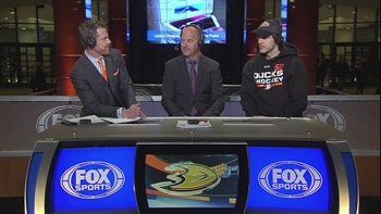 Ducks Live: Antoine Vermette on set