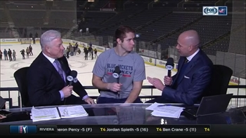 Ryan Murray scores goal;joins CBJ post game show