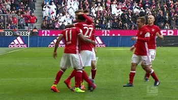 Arturo Vidal goal for Bayern Munich against Hamburg | 2016-17 Bundesliga Highlights
