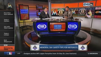 FHP Trooper Joe Sanchez drops by Marlins LIVE to discuss Memorial Day safety