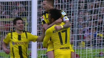 Aubameyang scores for Dortmund | 2016-17 Bundesliga Highlights