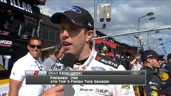 Brad Keselowski Finishes a Hard-Fought Second | 2017 FONTANA | FOX NASCAR