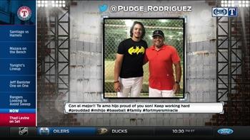 Rangers Live: Pudge asks about his son