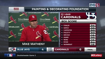 Matheny on Cardinals' doubleheader sweep of Blue Jays