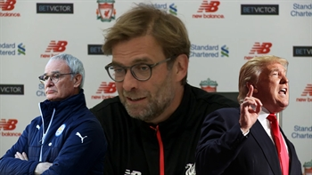 Jurgen Klopp compares the firing of Claudio Ranieri to Donald Trump's election.