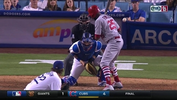 WATCH: Grichuk scores from 2B on Kershaw's wild pitch