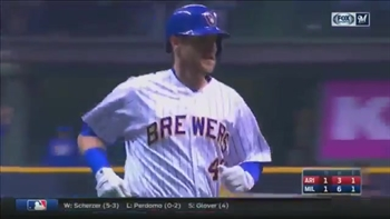 WATCH: Brewers' Bandy launches game-tying home run