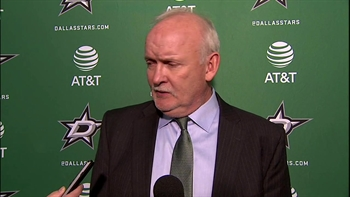 Lindy Ruff talks Stars 2-1 overtime win against Devils