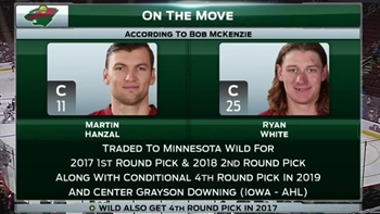 Coyotes deal Hanzal, White for draft picks, young center