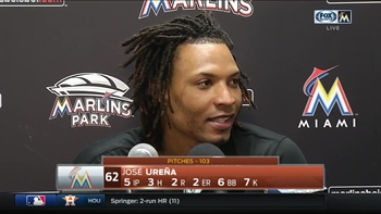 Jose Urena dissects his start after Sunday's win