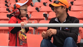 Joey Logano had a special edition to his car and pit at Bristol on Monday