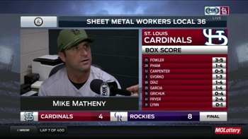 Mike Matheny talks about Lance Lynn's blister issues