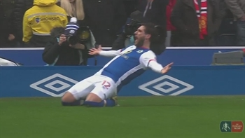 Danny Graham gives Blackburn the lead vs. Manchester United | 2016-17 FA Cup Highlights