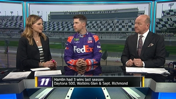Denny Hamlin Interview at Daytona Media Day | NASCAR RACE HUB
