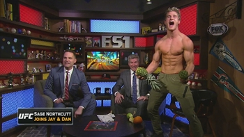 Sage Northcutt cracks open pineapple with his bare hands | FOX SPORTS LIVE