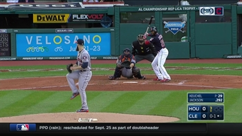 HIGHLIGHTS: Austin Jackson's first home run with the Indians