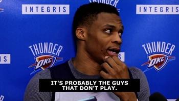Westbrook takes shot at Rockets for mocking Roberson